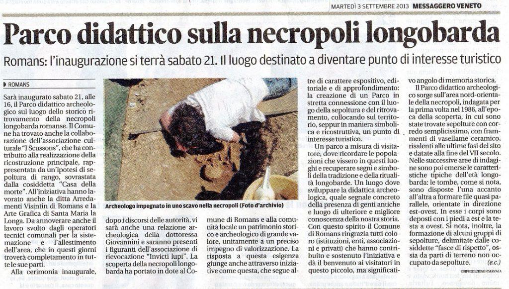 03 settembre 2013 - Messaggero Veneto
