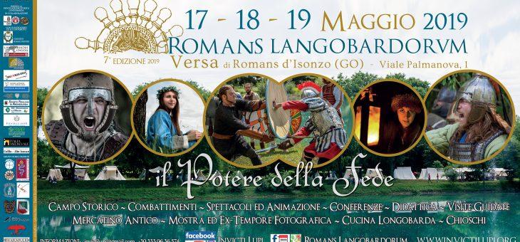 Comunicato Stampa Romans Langobardorum VII edizione 17-18-19 maggio 2019