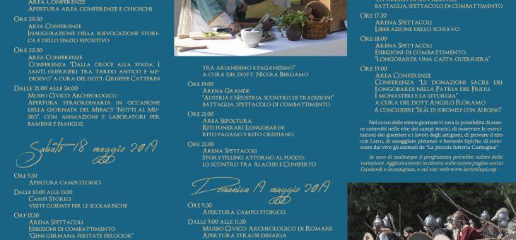 Programma Romans Langobardorum – VII edizione 17-18-19 maggio 2019